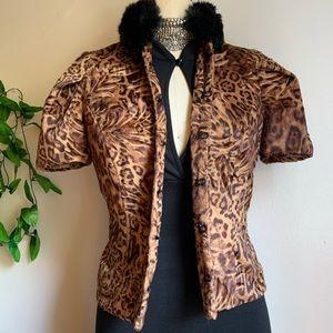 Animal print Short-sleeve Jacket